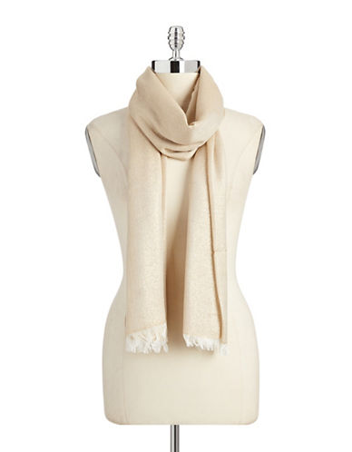 Lord & Taylor Solid Lurex Scarf-GOLD-One Size