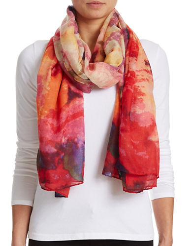 Lord & Taylor Watercolour Floral Scarf-WATERCOLOR-One Size