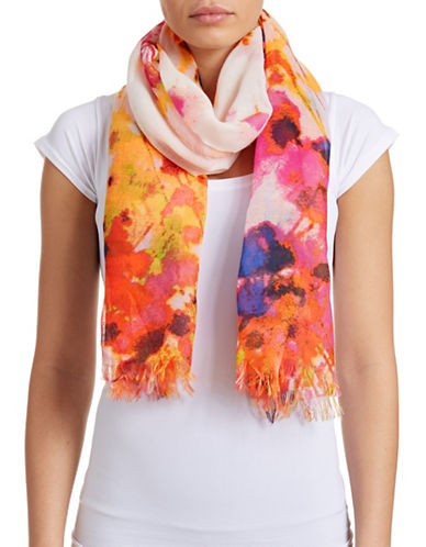 Fraas Water Floral Scarf-GOLD/PINK-One Size