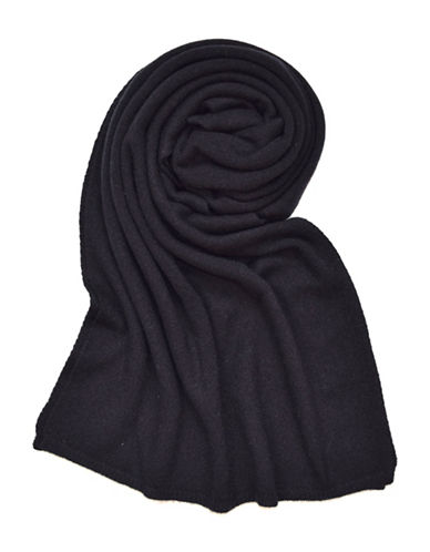 Lord & Taylor Solid Cashmere Scarf-BLACK-One Size