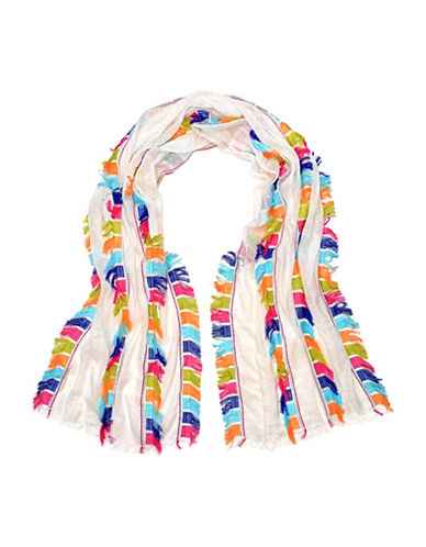 Fraas Multi Cut Fringe Scarf-WHITE-One Size