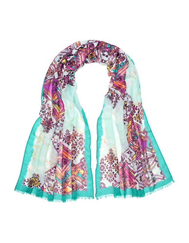 Fraas Mosaic Tile Scarf-TURQUOISE-One Size