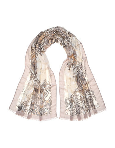Fraas Mosaic Tile Scarf-TAUPE-One Size
