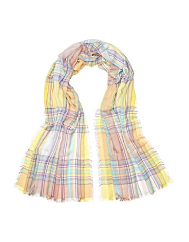 Fraas Plaid Scarf-LEMON-One Size