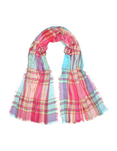 Fraas Plaid Scarf-PINK-One Size