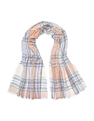 Fraas Plaid Scarf-SILVER-One Size