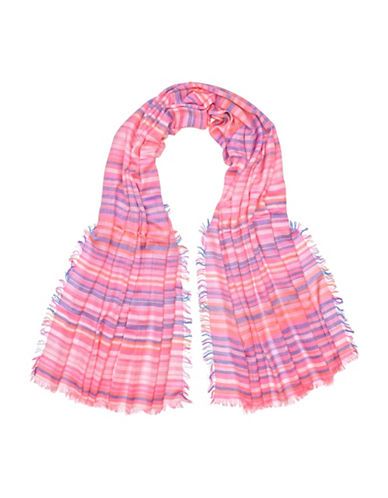 Fraas Mini Stripe Scarf-PINK-One Size