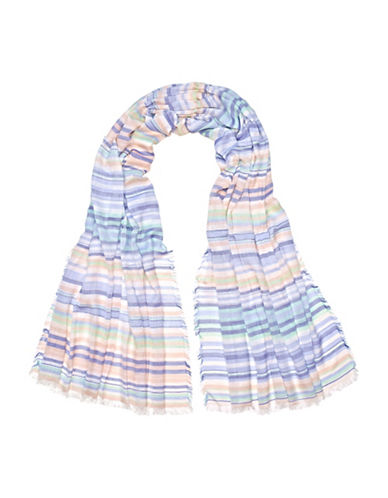 Fraas Mini Stripe Scarf-BLUE-One Size