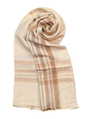 Lord & Taylor Two-Tone Fraas Plaid-CAMEL-One Size