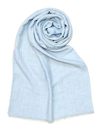 Lord & Taylor Glitter Spray Oblong Scarf-SKY-One Size