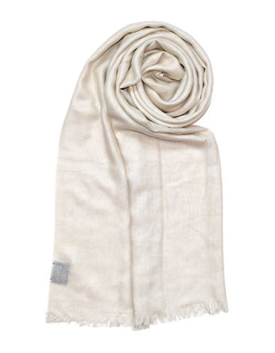 Lord & Taylor Frayed Scarf-IVORY-One Size