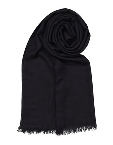 Lord & Taylor Frayed Scarf-BLACK-One Size