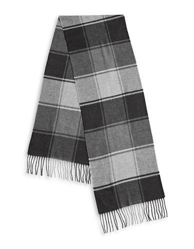 London Fog Colourblock Fringe Scarf-GREY-One Size