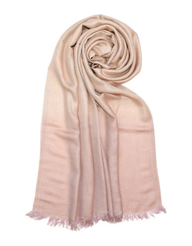 Lord & Taylor Allover Lurex Dip Dye Wrap Scarf-GOLD-One Size