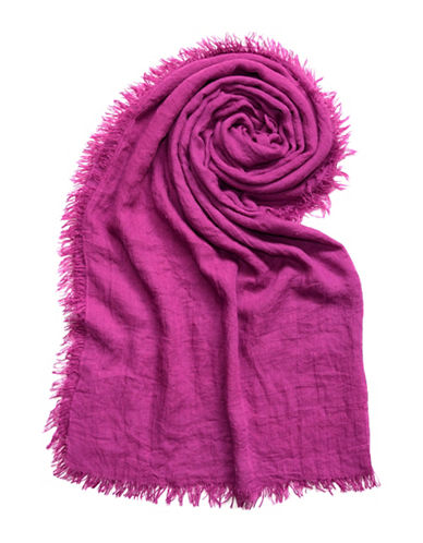 Lord & Taylor Distressed Solid Scarf-VIOLET-One Size