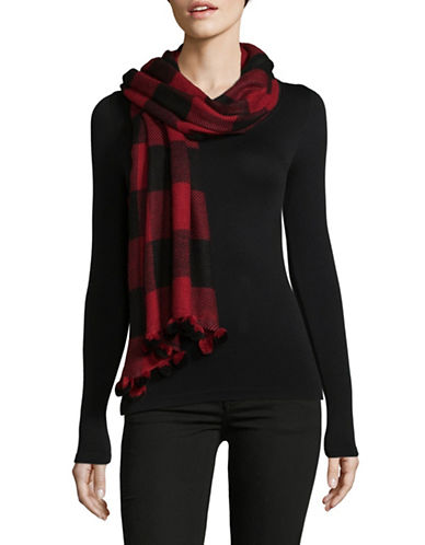 Lord & Taylor Colourblock Scarf-RED-One Size