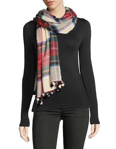 Lord & Taylor Tartan Patterned Scarf-IVORY-One Size