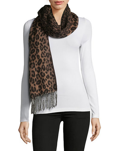 Lord & Taylor Fringed Scarf-BLACK/WHITE-One Size