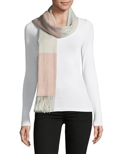 Lord & Taylor Colourblock Scarf-PINK-One Size