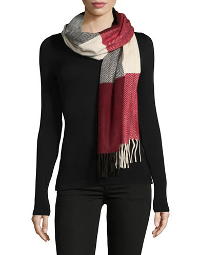Lord & Taylor Colourblock Scarf-BLACK-One Size