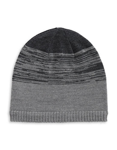 Black Brown 1826 Stripe Plein Jersey Tuque-CHARCOAL-One Size