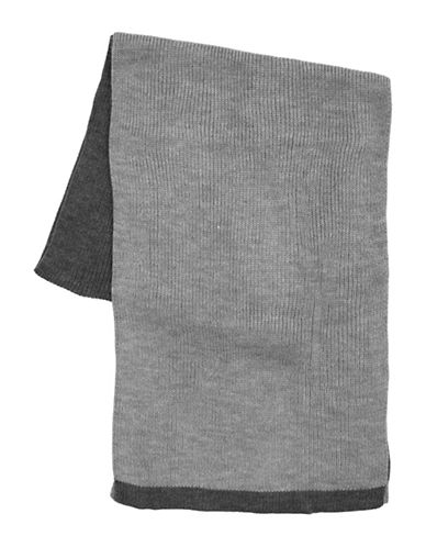 Black Brown 1826 Colourblock Knit Scarf-GREY-One Size