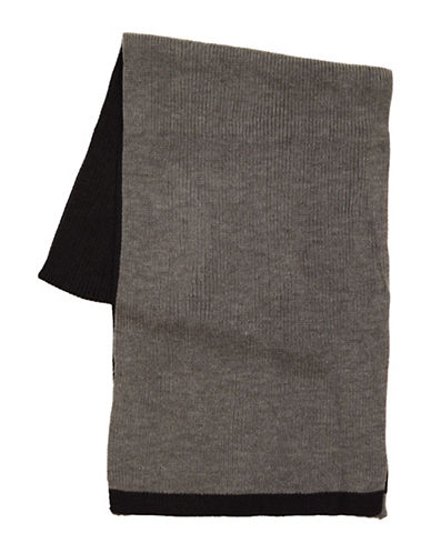 Black Brown 1826 Colourblock Knit Scarf-BLACK-One Size