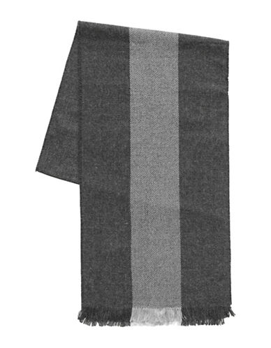 1670 Stripe Scarf-CHARCOAL-One Size