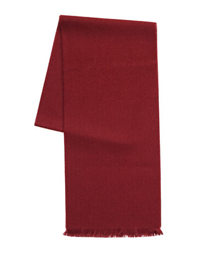 1670 Fringed Scarf-RED-One Size