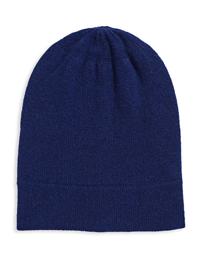 Lord & Taylor Cashmere Tuque-NAVY NIGHT-One Size