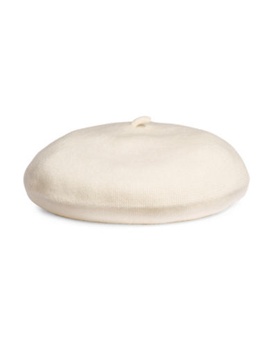 Lord & Taylor Cashmere Beret-IVORY-One Size
