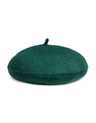 Lord & Taylor Cashmere Beret-GREEN-One Size