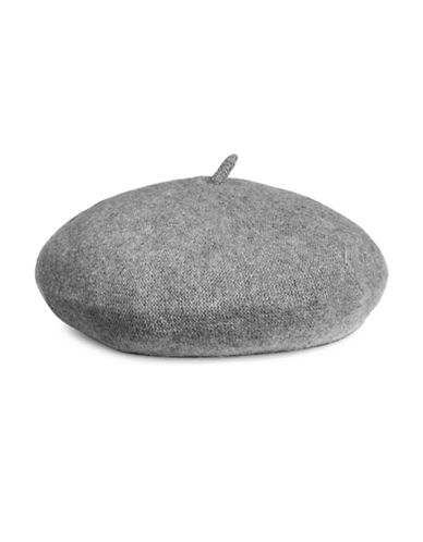 Lord & Taylor Cashmere Beret-HEATHER GREY-One Size
