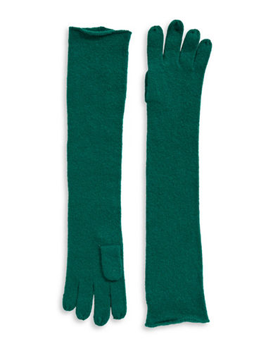 Lord & Taylor Cashmere Long Gloves-NEPTUNE-One Size