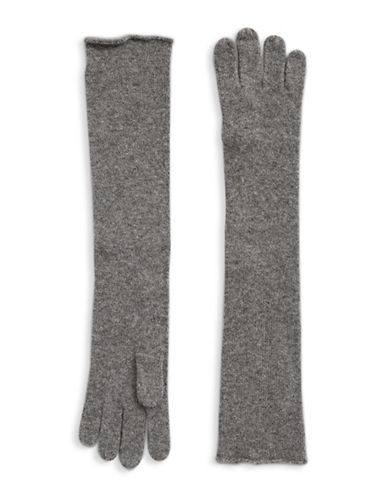 Lord & Taylor Cashmere Long Gloves-HEATHER GREY-One Size