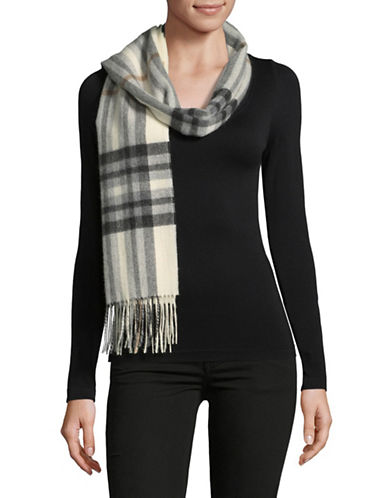 Lord & Taylor Exploded Cashmere Scarf-IVORY-One Size