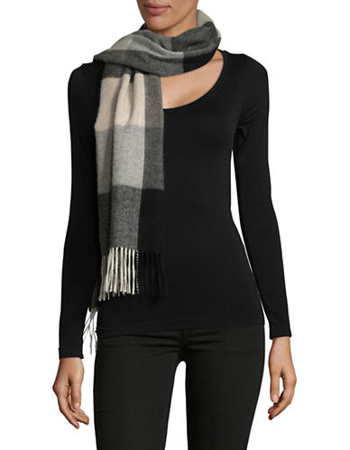 Lord & Taylor Cashmere Colourblock Scarf-GREY-One Size