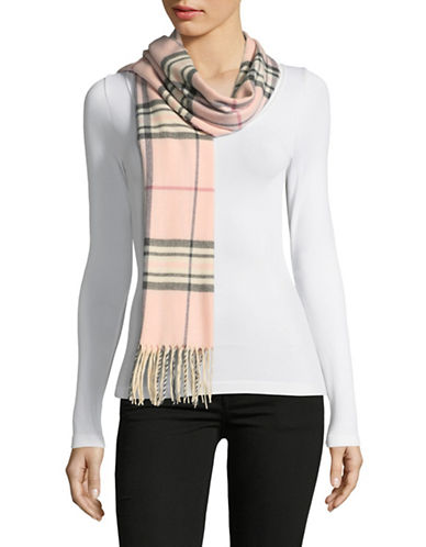 Lord & Taylor Fraas Plaid Scarf-PINK-One Size