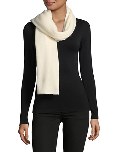 Lord & Taylor Solid Cashmere Scarf-IVORY-One Size