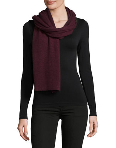 Lord & Taylor Solid Cashmere Scarf-WINE-One Size