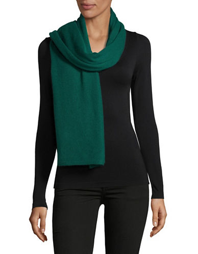 Lord & Taylor Solid Cashmere Scarf-EMERALD-One Size
