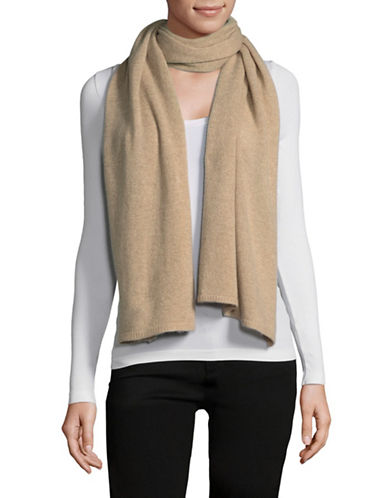 Lord & Taylor Solid Cashmere Scarf-TAUPE-One Size