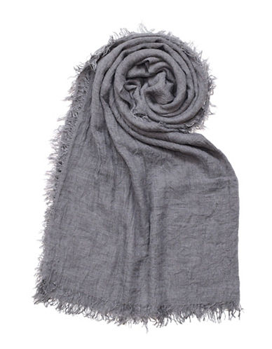 Lord & Taylor Distressed Solid Scarf-GREY-One Size