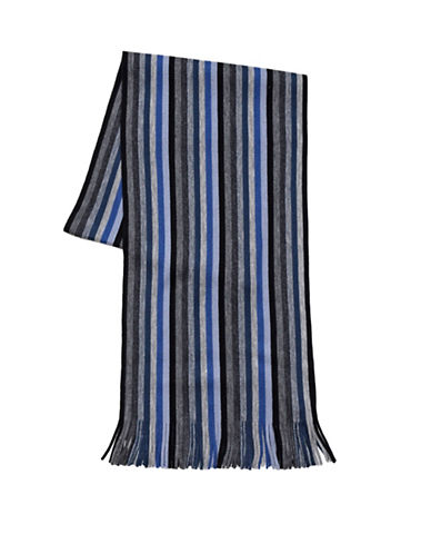 London Fog Mini Stripe Scarf-BLUE-One Size