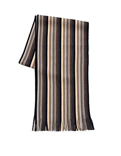 London Fog Mini Stripe Scarf-BEIGE-One Size