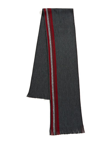 Black Brown 1826 Reversible Scarf-BURGUNDY-One Size