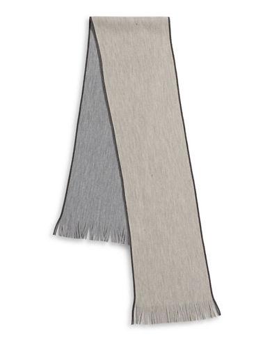 Black Brown 1826 Reversible Striped Raschel Scarf-BEIGE-One Size