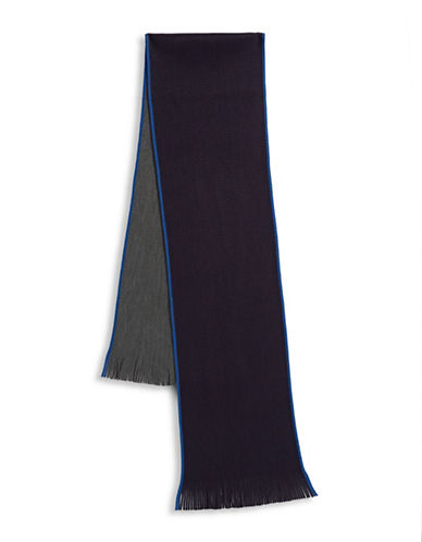 Black Brown 1826 Reversible Scarf-NAVY-One Size
