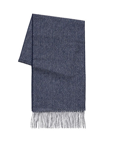 Black Brown 1826 Wool Scarf-NAVY-One Size