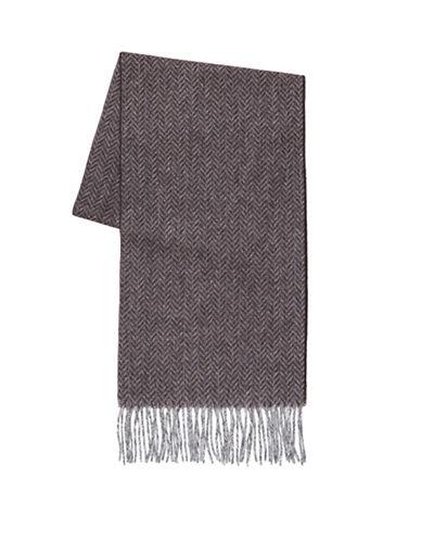 Black Brown 1826 Wool Scarf-BROWN-One Size